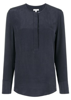 Equipment long-sleeve shift blouse