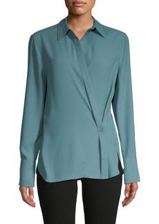 Equipment Long-Sleeve Wrap Shirt