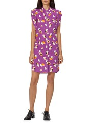 Equipment Lorainna Floral Cap-Sleeve Silk Dress