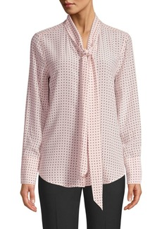 Equipment Luis Nostalgia Polka Dot Silk Blouse
