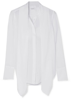 Equipment Luis Pussy-bow Silk Crepe De Chine Blouse