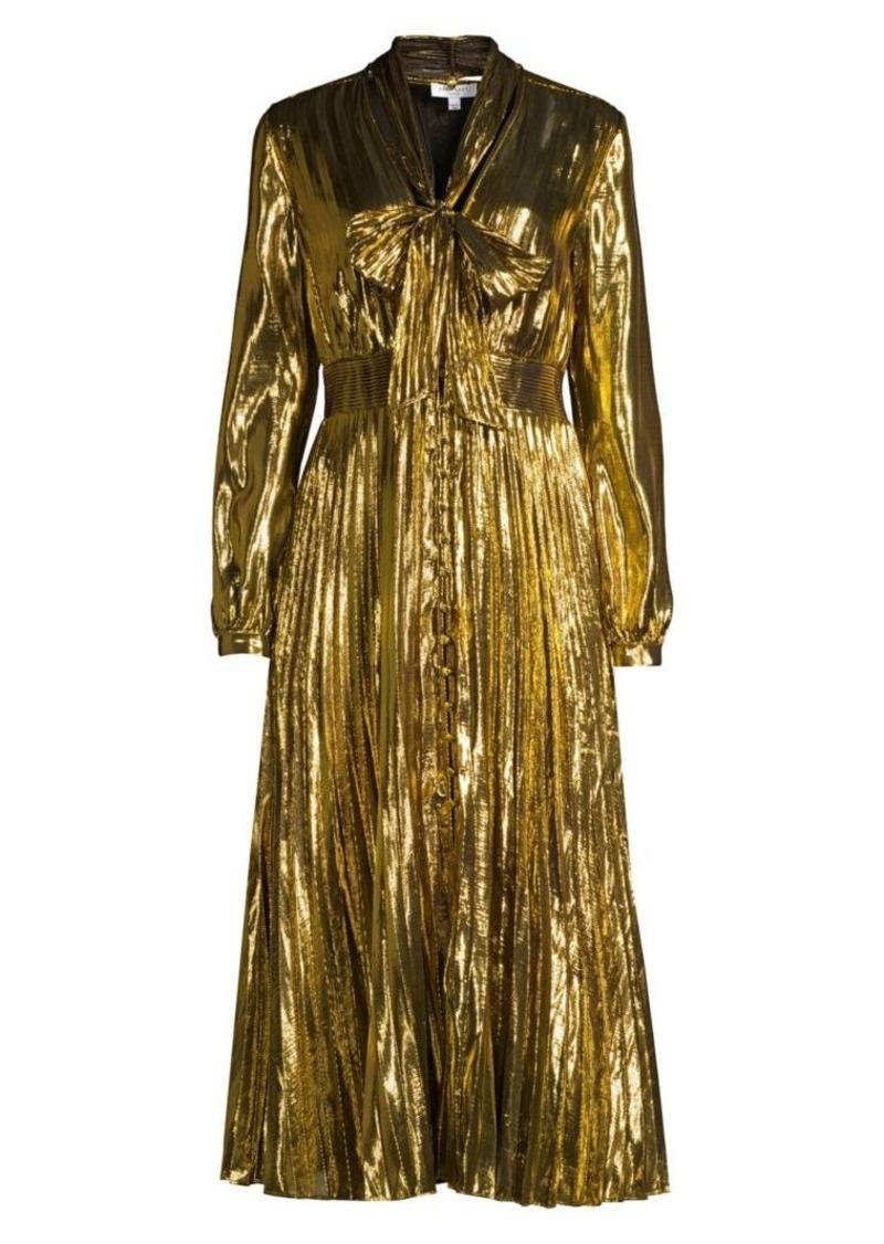 Equipment Macin Metallic Midi Dress