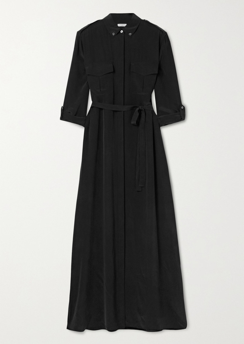 Equipment Major Washed-silk Maxi Shirt Dress