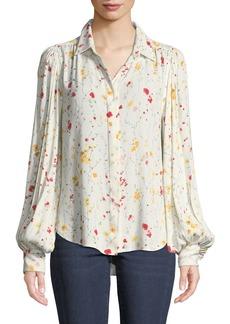 Equipment Marcilly Button-Front Floral-Print Blouse