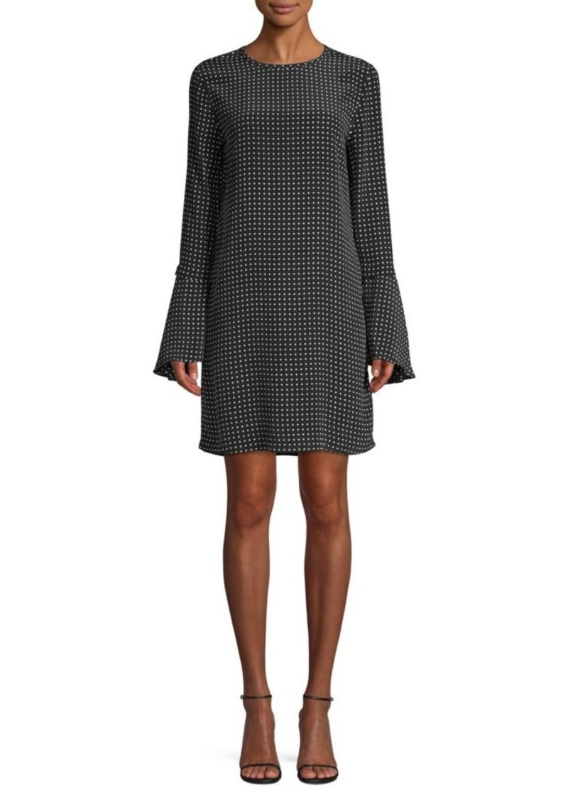 Equipment Mari Polka Dot Bell-Sleeve Shift Dress