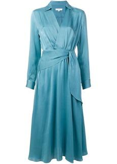 Equipment midi wrap dress