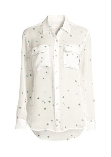 Equipment Multicolor Star Silk Blouse