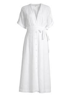 Equipment Nauman Linen Wrap Shirtdress