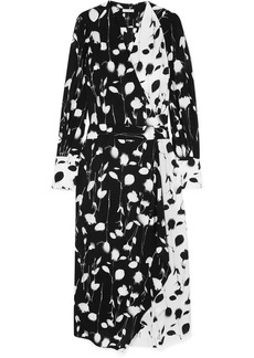 Equipment Neema Asymmetric Wrap-effect Floral-print Georgette Maxi Dress