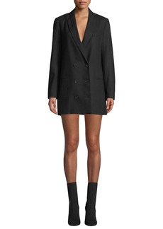 Equipment Norden Double-Breasted Long Wool Blazer Dress
