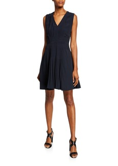 Equipment Norice V-Neck Sleeveless A-Line Dress