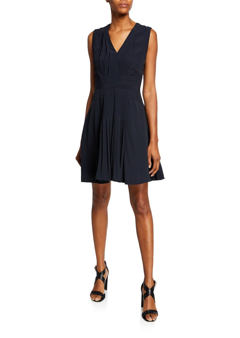Equipment Norice V-Neck Sleeveless A-Line Dress