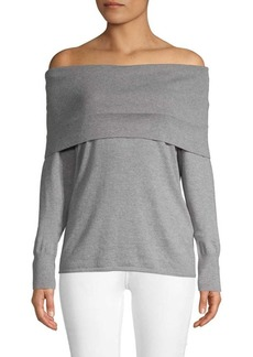 Joie Off-The-Shoulder Cotton & Cashmere Top