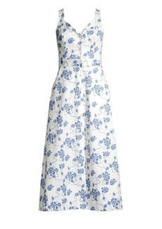 Equipment Oleisa Floral Print A-Line Dress
