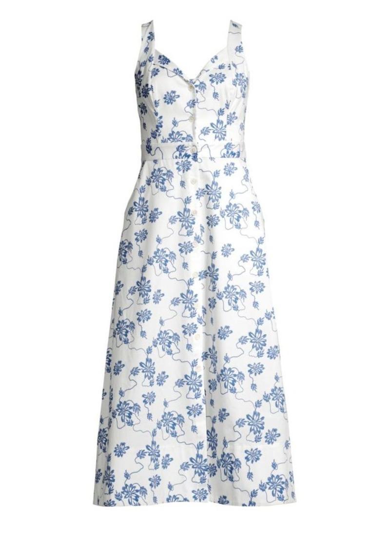 Equipment Oleisa Floral Print A-Line Dress