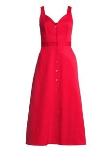 Equipment Oleisia Solid Sleeveless A-Line Dress