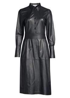Equipment Orelie Leather Shirtdress