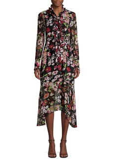 Equipment Palo Floral-Print Silk Midi Dress