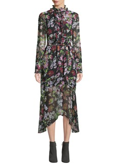 Equipment Palo Floral Symphony Georgette Dress