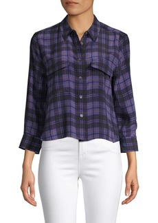 Equipment Plaid Silk Button-Down Shirt
