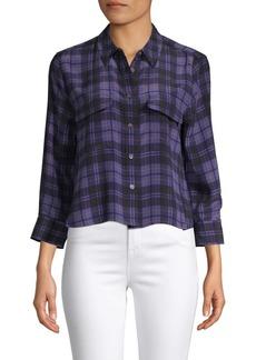 Equipment Plaid Silk Button-Down Shirt