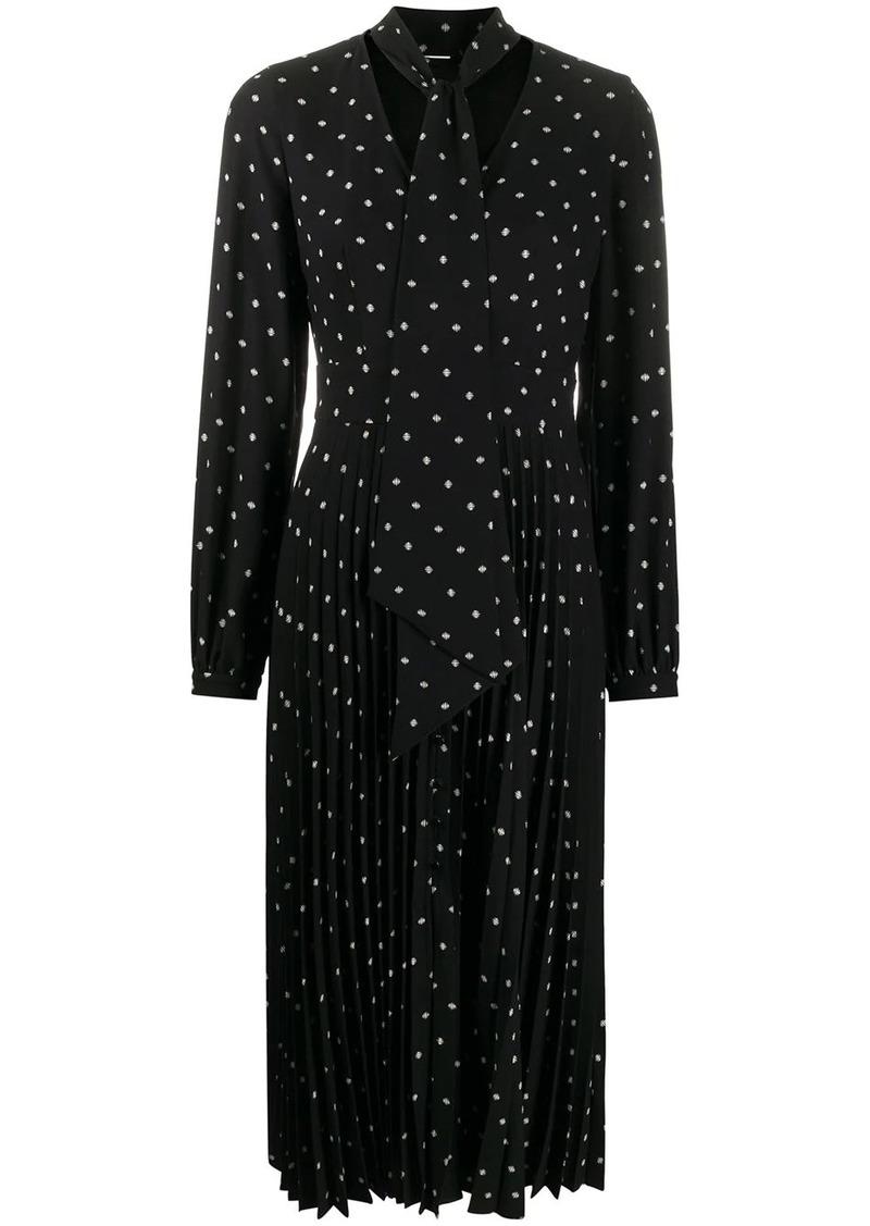 Equipment polka dot print midi dress