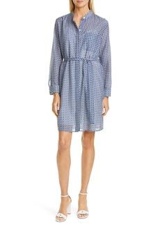 Equipment Ravena Print Long Sleeve Silk Blend Shirtdress