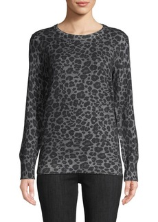 Equipment Rei Leopard-Print Cotton & Cashmere Sweater