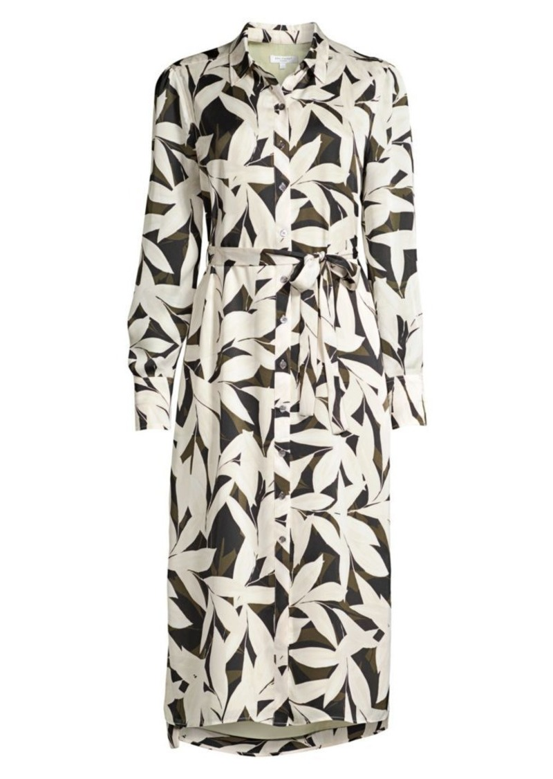 Equipment Rosalee Palm Print Shirtdress