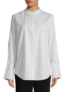 Equipment Rossi Bright Striped Cotton Button-Down Shirt