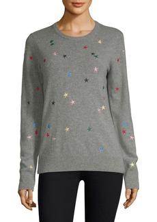 Equipment Shane Star Embroidered Cashmere Pullover