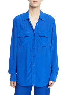Equipment Signature Button-Down Flap-Pocket Shirt
