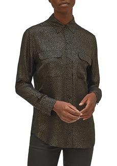 Equipment Signature Silk Georgette Button-Up Shirt