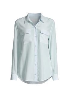 Equipment Signature Slim Silk Button-Front Blouse