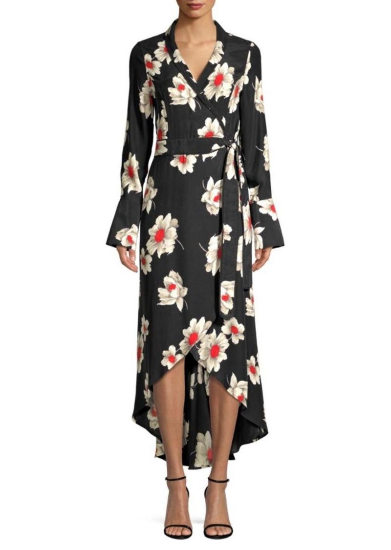 Equipment Silk High-Low Wrap Dress