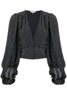 Equipment silk polka dot blouse
