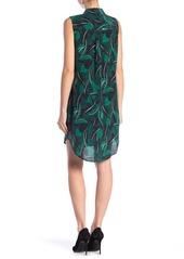 Equipment Sleeveless Felix Print Silk Dress