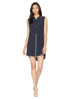 Equipment Sleeveless Slim Signature Dress