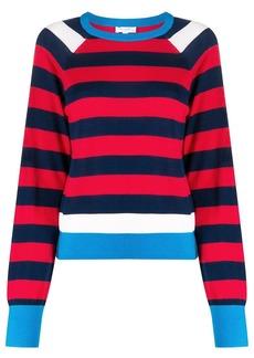 Equipment striped crewneck jumper