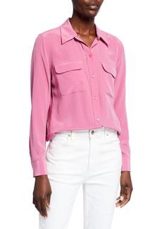 Equipment Slim Signature Button-Down Silk Shirt