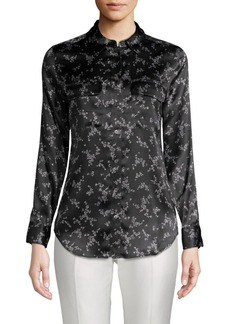 Equipment Slim Signature Floral Silk Shirt