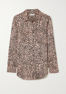 Equipment Slim Signature Leopard-print Crepe De Chine Shirt