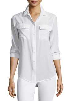 Equipment Slim Signature Long-Sleeve Shirt  Bright White