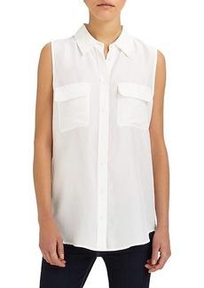 Equipment Slim Signature Silk Sleeveless Shirt