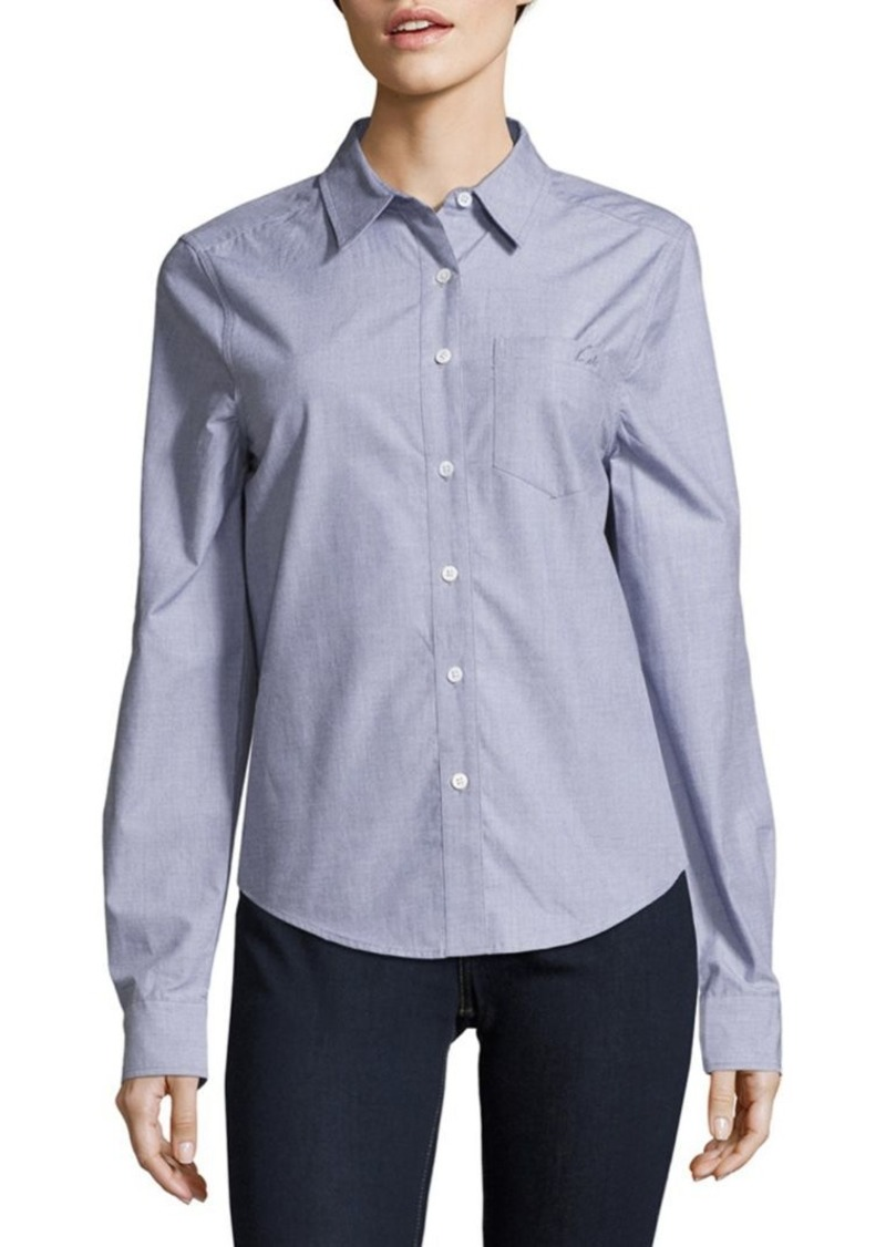 Equipment Solid Cotton Shirt