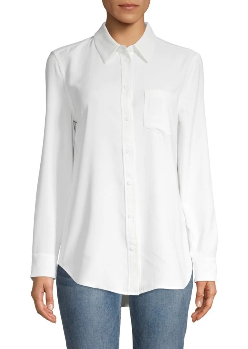 Equipment Spread-Collar Cotton-Blend Shirt