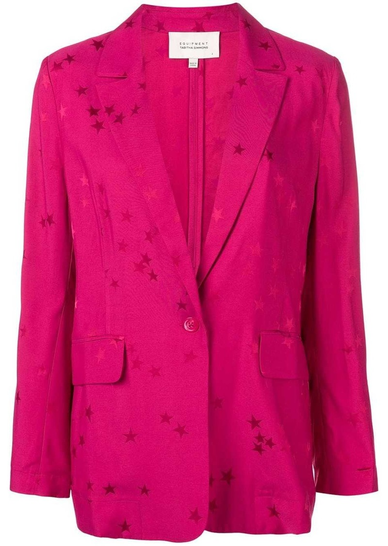Equipment star pattern blazer jacket