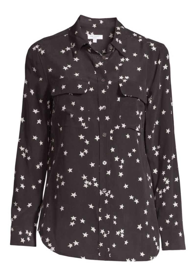 Equipment Starry Night Slim Signature Silk Shirt