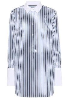 Equipment Striped cotton wide-cuff shirt