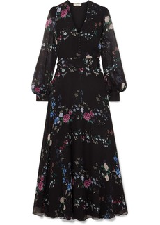 Equipment Tabitha Simmons Clemense Ruffled Floral-print Silk-chiffon Maxi Dress